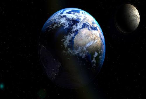 地球 月 比較